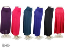 96 Units of Women's Long Lightweight Skirts In Assorted Colors - Womens Skirts