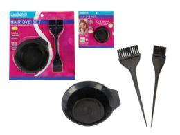 72 Units of 3 Piece Hair Dye Set - Hair Accessories