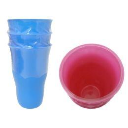 72 Units of 3Pc Plastic Tumbler Set - Plastic Drinkware