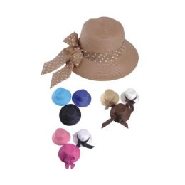 36 Units of Ladies Fashion Hat With Bow Assorted Colors - Baseball Caps & Snap Backs
