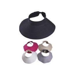 36 Units of Ladies Visor Hat  Assorted Colors - Sun Hats