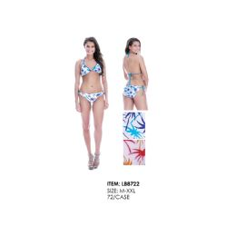 36 Units of Womens 2 Piece Fashion Swim Suit Assorted Colors - Womens Swimwear