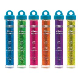 144 Units of BAZIC 22g / 0.77 Oz. Neon Color Glitter Shaker w/ PDQ - Craft Glue & Glitter