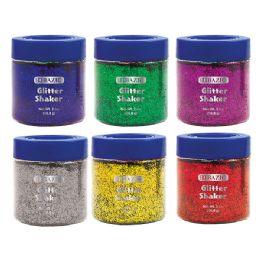 72 Units of BAZIC 56.6g / 2 Oz. Primary Color Glitter Shaker w/ PDQ - Craft Glue & Glitter
