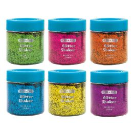 72 Units of BAZIC 56.6g / 2 Oz. Neon Color Glitter Shaker w/ PDQ - Craft Glue & Glitter