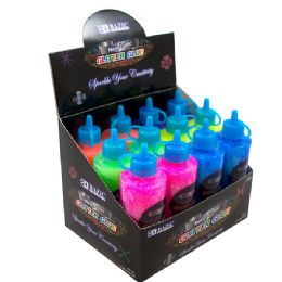 72 Units of BAZIC 120 mL Neon Color Glitter Glue - Craft Glue & Glitter