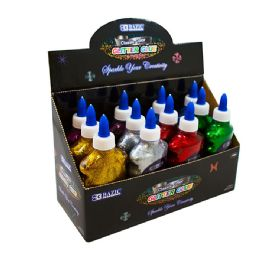 144 Units of BAZIC 120 mL Neon Color Glitter Glue - Craft Glue & Glitter