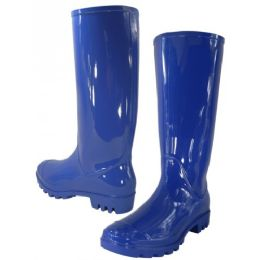 12 Units of 13-1/4 Inches Women's Rain Boots Royal Blue - Women's Boots