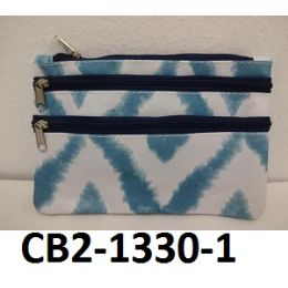 100 Units of Coin Purse Two Front Zip Pockets Fully Lined Zip Top Closure