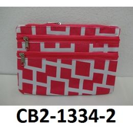 100 Units of Coin Purse Two Front Zip Pockets Fully Lined Zip Top Closure - PURSES/WALLETS