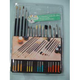 12 Units of 15pc Artist Paintbrushes - Paint, Brushes & Finger Paint