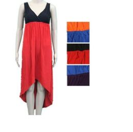 48 Units of Womens Fashion Solid Color Sun Dresses - Womens Sundresses & Fashion