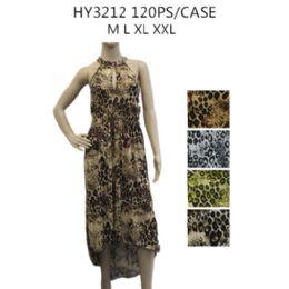 48 Units of Womens Fashion Animal Print Sun Dresses Assorted Styles - Womens Sundresses & Fashion