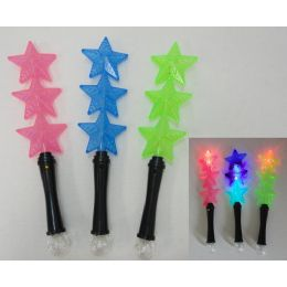 "120 Units of 14"" Light Up Wand [3 Stars] - Light Up Toys"