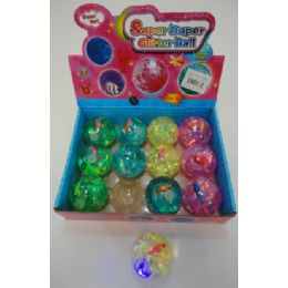 "48 Units of 2.5"" Medium Light Up Bouncing Water Ball - Light Up Toys"