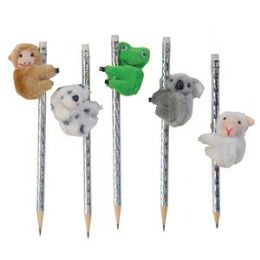 84 Units of Clip On Cuddles Plush Animal Clip - Pencil Grippers / Toppers