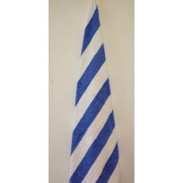 12 Units of Premium Quality Cabana Stripes 100% Cotton Soft and Thick Beach Towel End Hem Dobby Border - Beach Towels