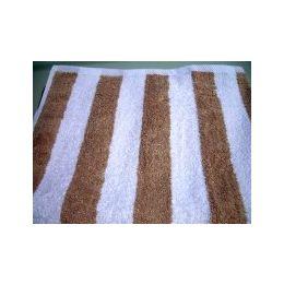 12 Units of Premium Quality Cabana Stripes 100% Cotton Soft and Thick Beach Towel End Hem Dobby Border Beige Color - Beach Towels