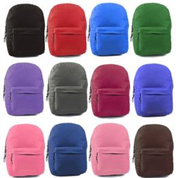 24 Units of Sturdy 600D Backpack In Assorted Colors - Backpacks 17""