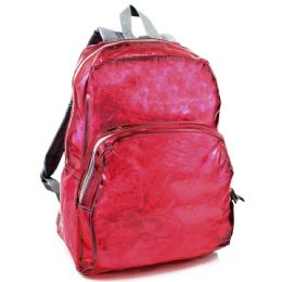 """24 Units of Clear Backpack In Pink - Backpacks 17"""""""