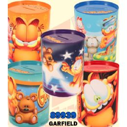 48 Units of Garfield Money Tin Cans - Coin Holders & Banks