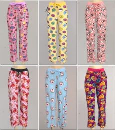 144 Units of Women's Assorted Print Pj Pants, Size S-xl - Women's Pajamas and Sleepwear