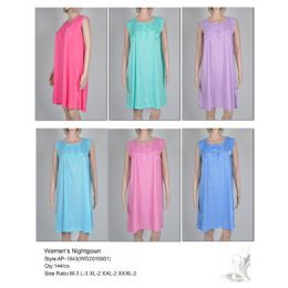 72 Units of Ladies Sleeveless Summer Nightgown Assorted Styles - Women's Pajamas and Sleepwear