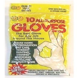72 Units of 10pc Vinyl Gloves - Kitchen Gloves