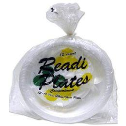 "96 Units of Readi 12ct 10-1/4"" Foam Plates - Disposable Plates & Bowls"