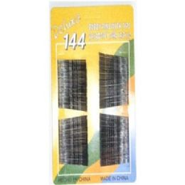 288 Units of 144pc Black Bobby Hair Pins - Personal Care Items