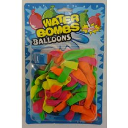 72 Units of 100pc Large Water Balloons with Filler - Water Balloons