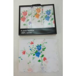 72 Units of 3pk Ladies Printed Handkerchief - Napkin and Paper Towel Holders