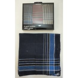 72 Units of 3pk Men's Plaid Handkerchief - Napkin and Paper Towel Holders