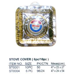 100 Units of 10 PC STOVE COVER SQUARE