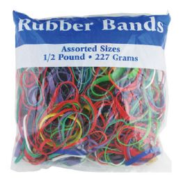 72 Units of Assorted Dimensions 227g/ 0.5 lbs. Rubber Bands - Rubber Bands