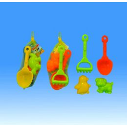 72 Units of Sand Tool Set In Net - Beach Toys