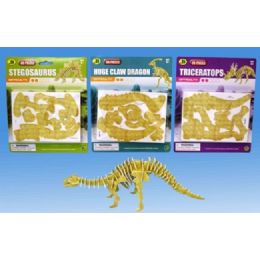 72 Units of 3D Dino puzzle in blister card 4 asst - Puzzles