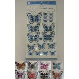 72 Units of 5d Wallpaper Sticker [butterfly] - Stickers