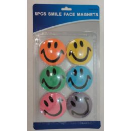 144 Units of 6pc Smile Face Magnets - Refrigerator Magnets