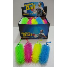 "36 Units of 7"" Light Up Spike Caterpillar Assorted Colors - Light Up Toys"