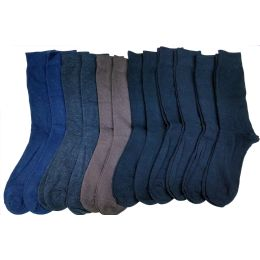 240 Units of Mens Solid Colors Cotton Dress Socs - Mens Dress Sock