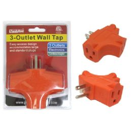 96 Units of 3 Outlet Wall Tap - Hardware Products