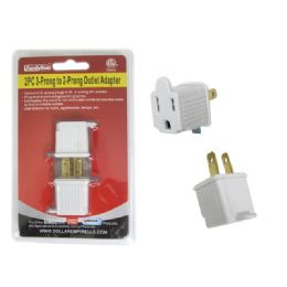 144 Units of 2 Piece 3-Prong To 2-Prong Outlet Adapter - Chargers & Adapters