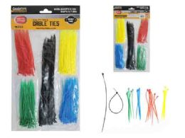 144 Units of 250pc Asst Color Cable Tie - Wires