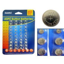 96 Units of Batteries Button 40pc/set - Batteries
