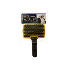 24 Units of SelF-Cleaning Pet Brush - Pet Accessories
