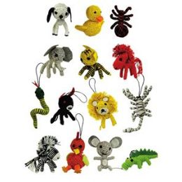 75 Units of Animal String Doll - Animals & Reptiles