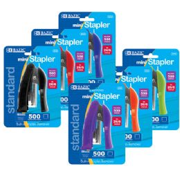 72 Units of Bazic Mini StanD-Up Standard (26/6) Stapler W/ 500 Ct. Staples - Staples and Staplers