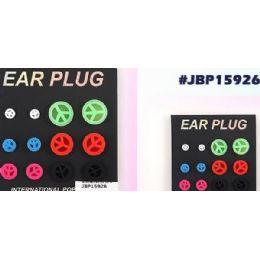 96 Units of Peace Sign Bodyjewelry/ Body Piercing Ear Plug - Body Jewelry