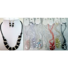 24 Units of Crystale Jewelry Necklace & Earring Set - Necklace